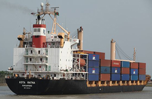 A Singaporean ship  in the Chittagong Port. Photo: Abir Abdullah/ADB